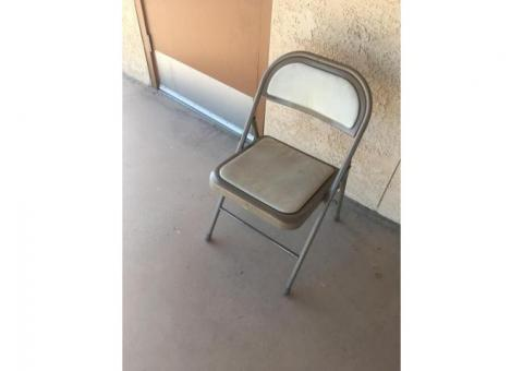 Folding chairs with rolling rack