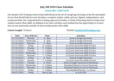 Accelerated CNA Training Class