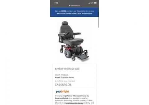 J6 power wheelchair