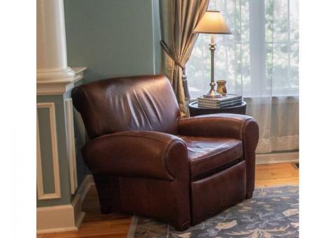 Pottery Barn Manhattan Leather Chair