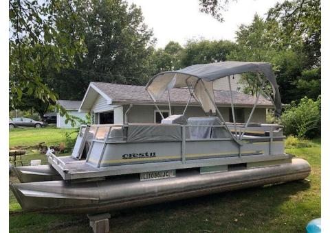 Crest II Pontoon Boat 21 Foot