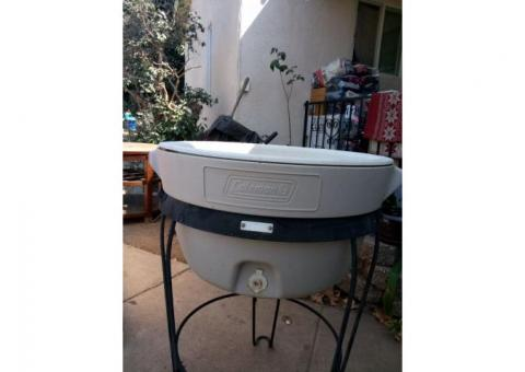 Coleman standing ice chest