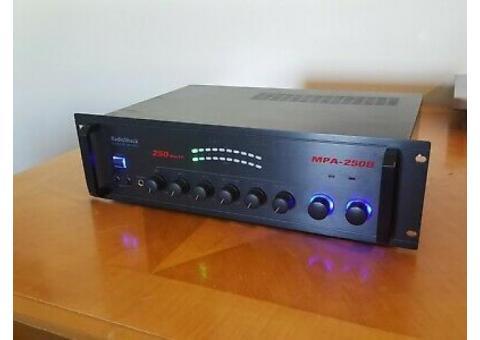 Radio Shack MPA-250B Power PA Amplifier Amp Rack Mount 250W Black Works!!