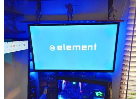 "32"" element smart tv with remote, stand, wall mount and ambient lighting"